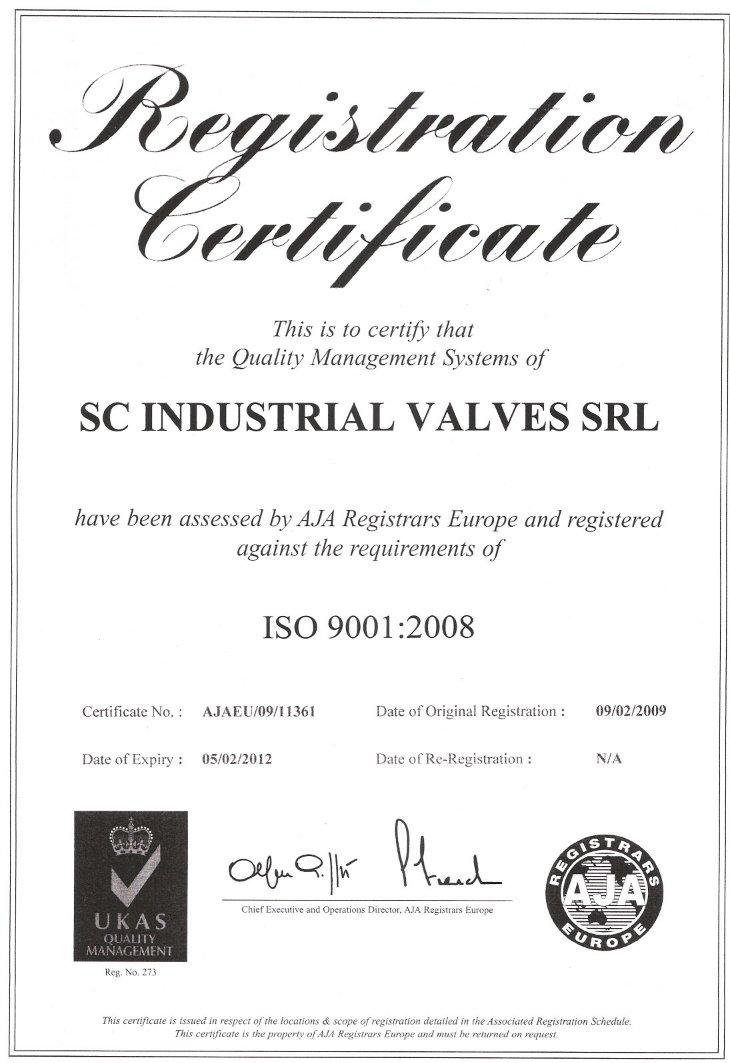 Certificat BN EN ISO 9001:2000